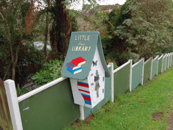 Little free library on Rawhiti Street