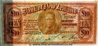 Old BNZ bank note