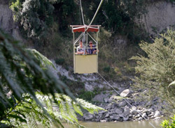 Aerial cable car to The Flying Fox