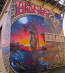 Hina' by Jonny4higher, on back of West Terrace Lodge, Cnr K Rd & West Tce