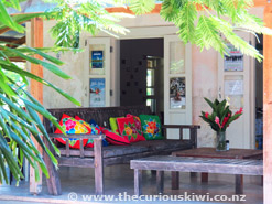Outside seating at LBV Cafe in Muri