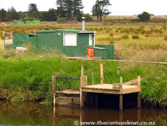 Whitebait huts on the Mataura River