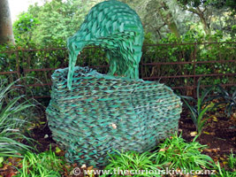 Topiary Kiwi by Jeff Thomson at Pah Homestead