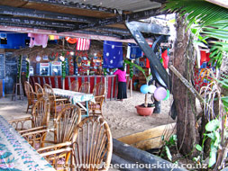 Bar at Big Mama's on Pangaimotu Island