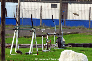 Outdoor gym, Whangamomona Camping Ground