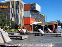 Wynyard Quarter - take a seat on the outdoor furniture